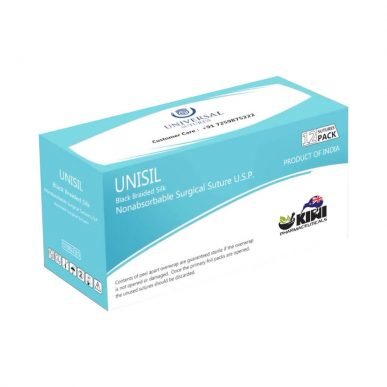 UNISIL Black Braided Silk Suture