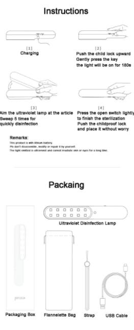 Surgical Supplies portable-uv-sterilizer-packing-instructions Portable UV Sterilizer