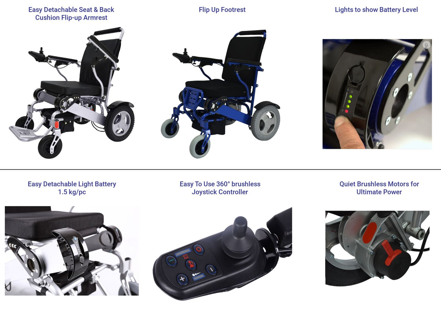 powered wheel chair features