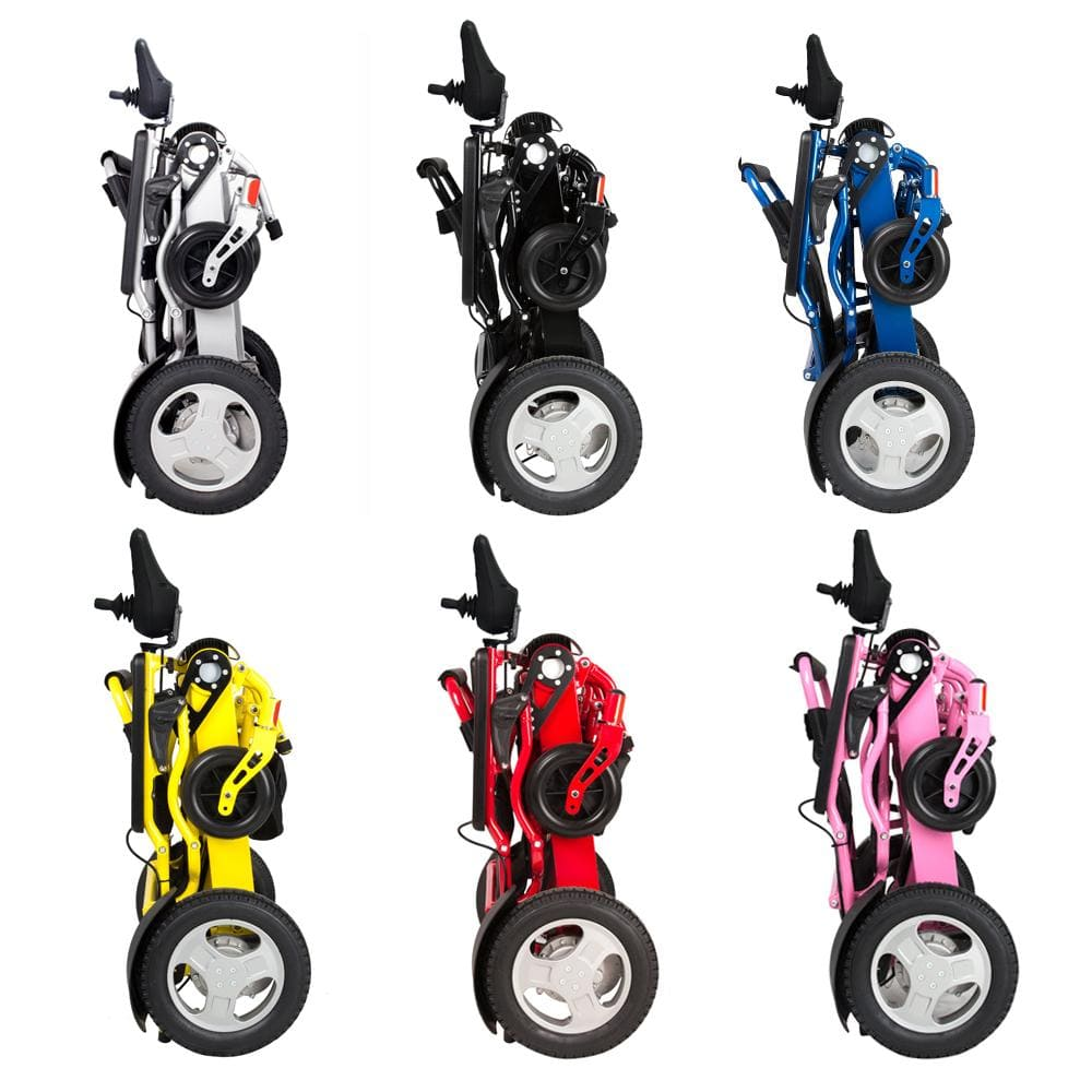 powered wheel chair folded side colors