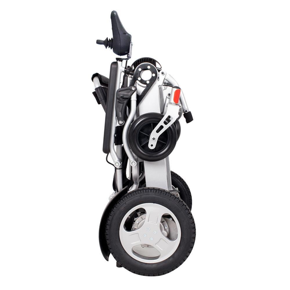 powered wheel chair folded side