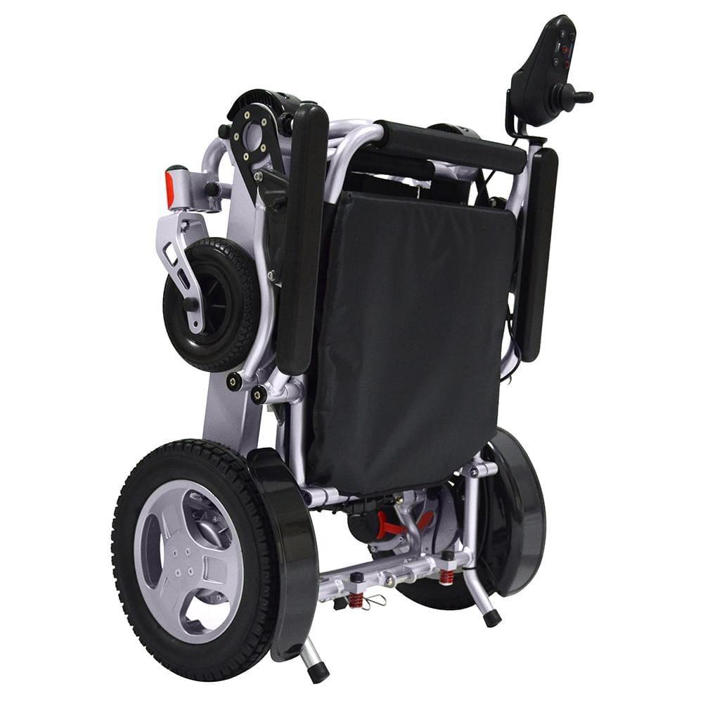 powered wheel chair folded