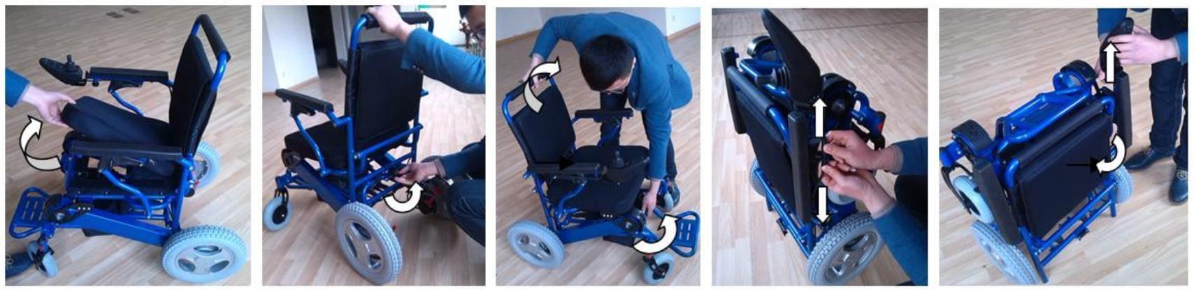 Powered Wheel Chair folding steps