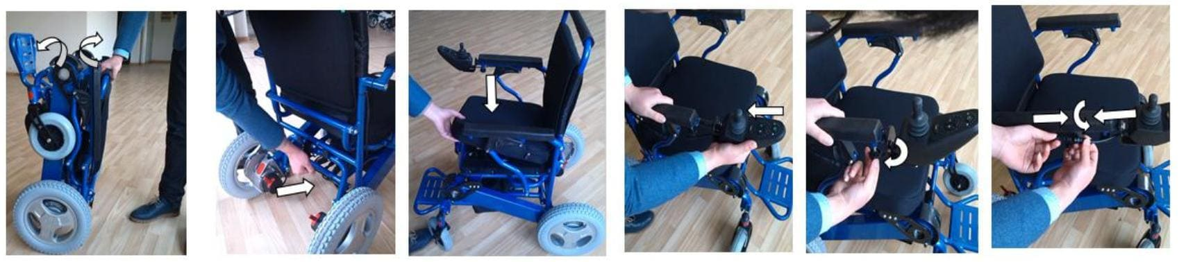 Powered Wheel Chair unfolding steps