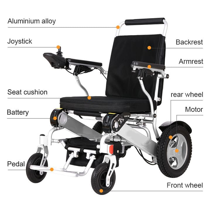 powered wheel chair specification