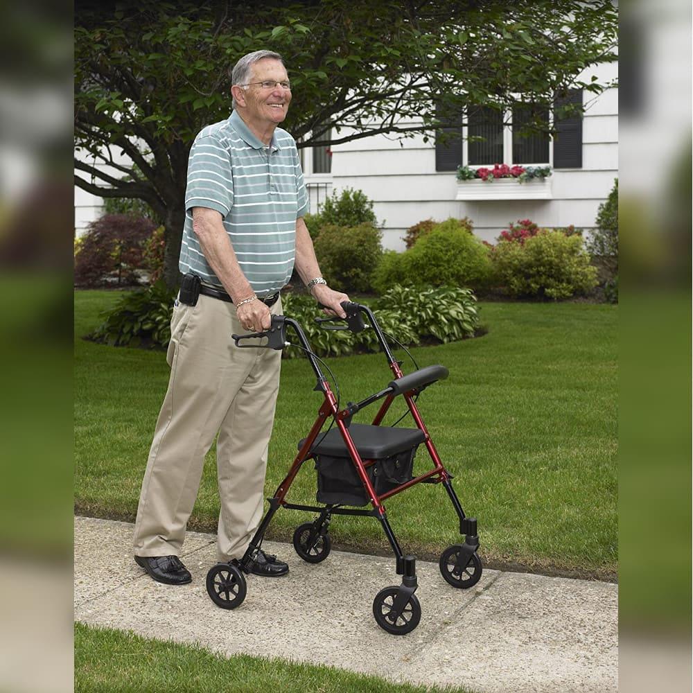 rollator elderly man