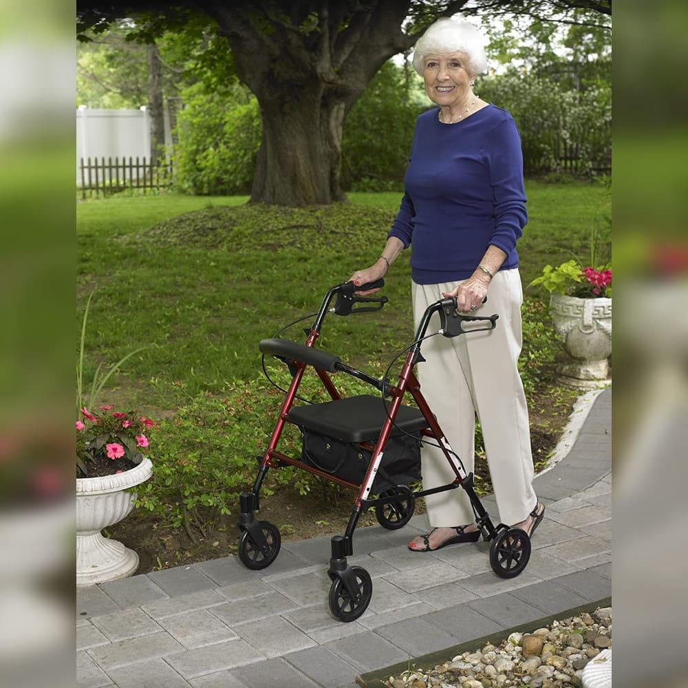rollator elderly woman