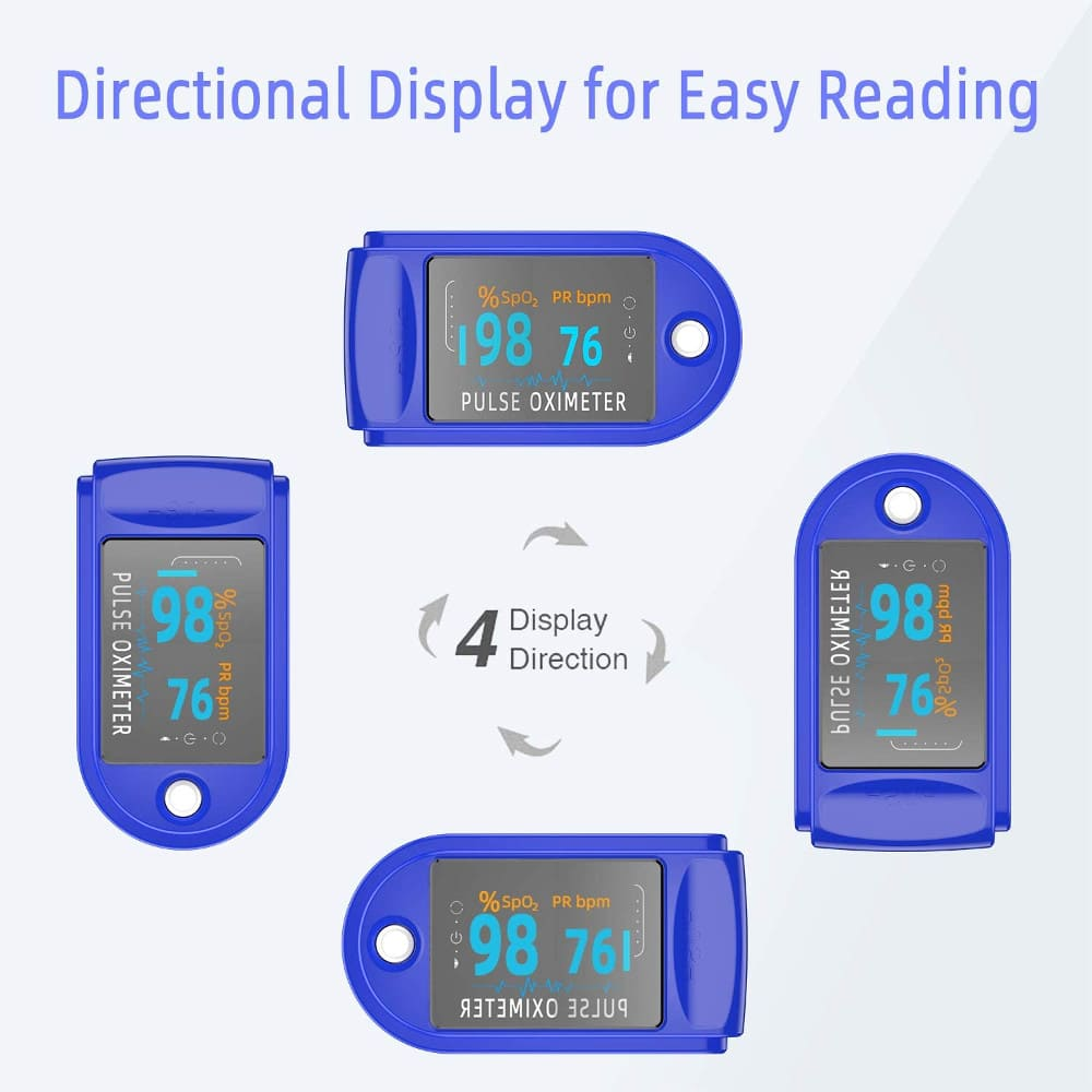 fingertip pulse oximeter 4 way display