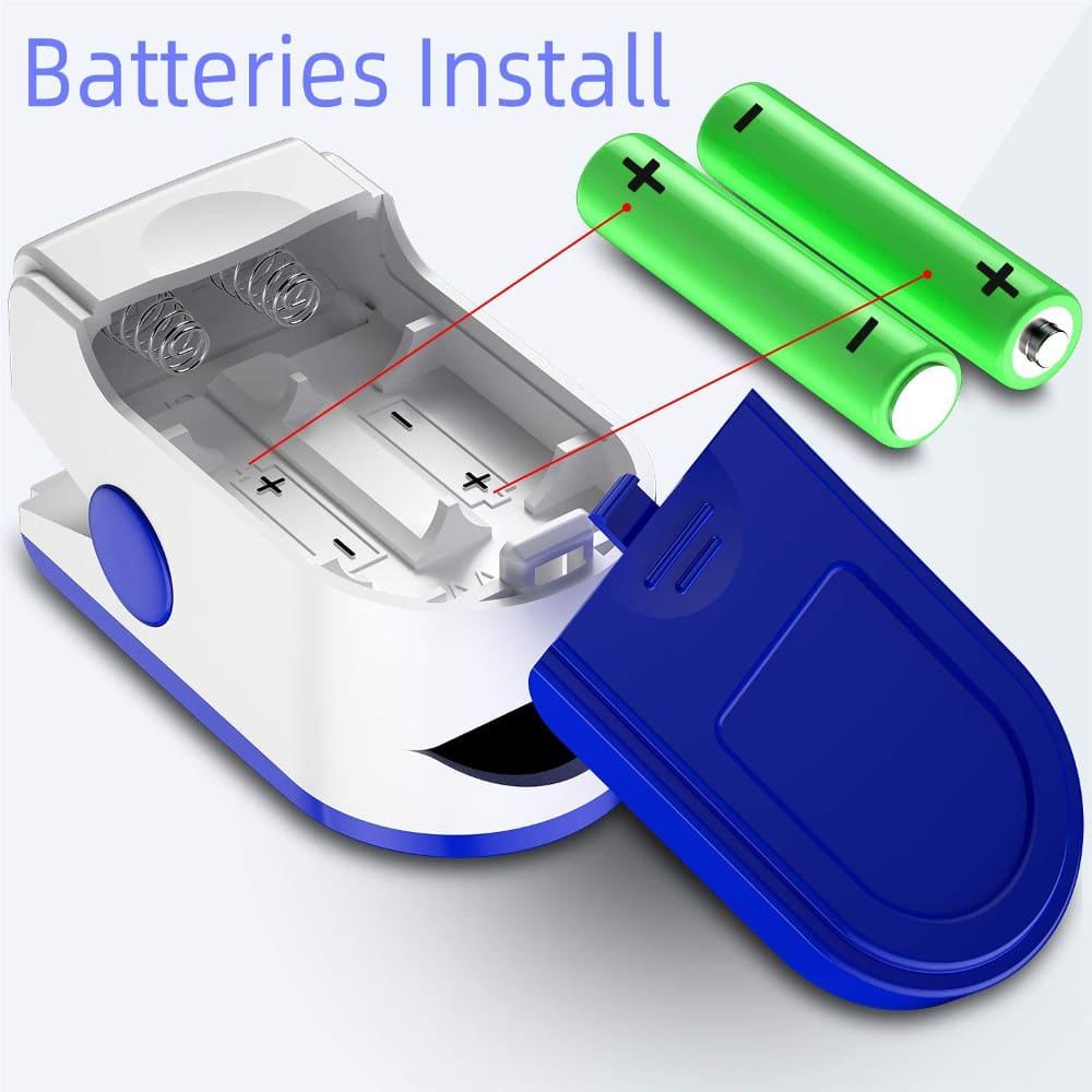 fingertip pulse oximeter batteries