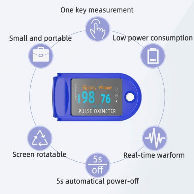 fingertip pulse oximeter features