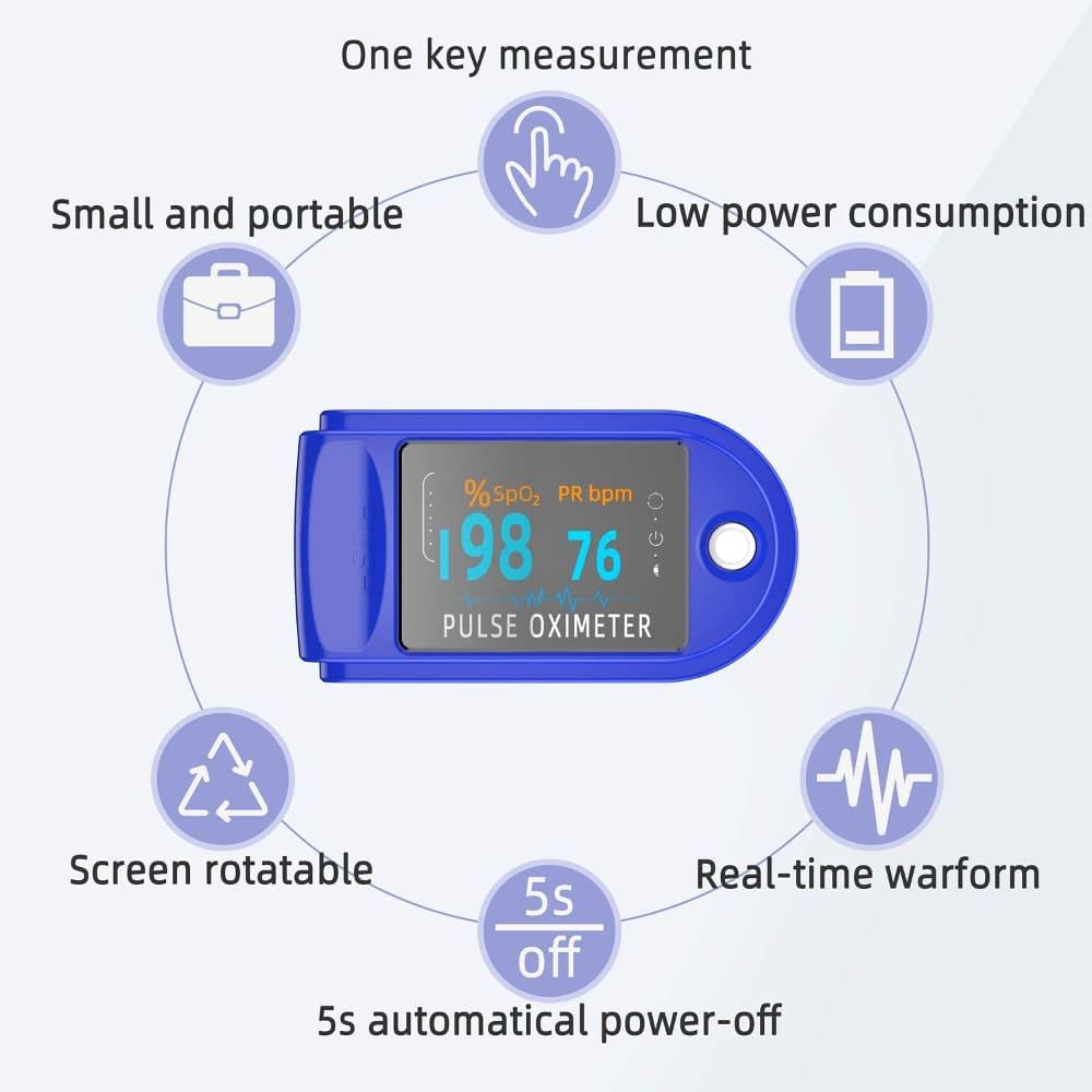 fingertip pulse oximeter features